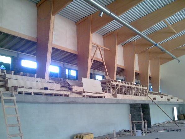Rapla Sadolini Spordihoone Tribüün ja 4 Leiliruumi